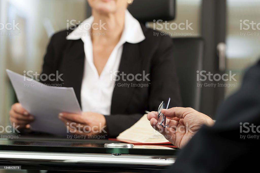 Female Lawyer or notary in her office royalty-free stock photo