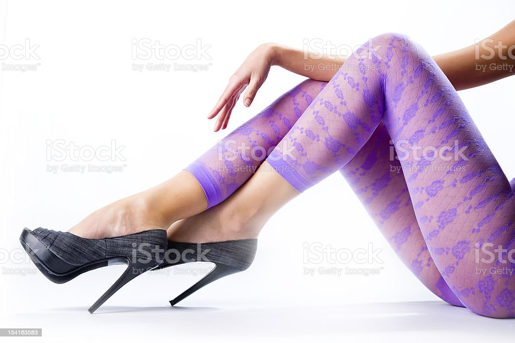 Female legs and high heels royalty-free stock photo