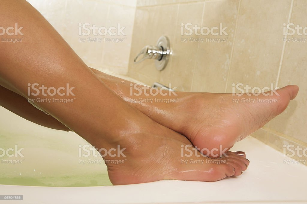 female legs on a bath royalty-free stock photo