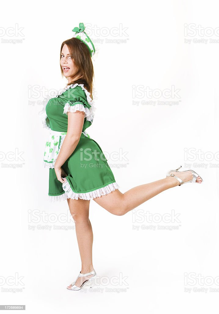 Female leprechaun stock photo