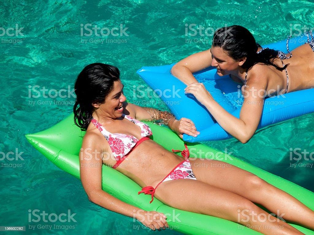 Female Lilo Fun royalty-free stock photo