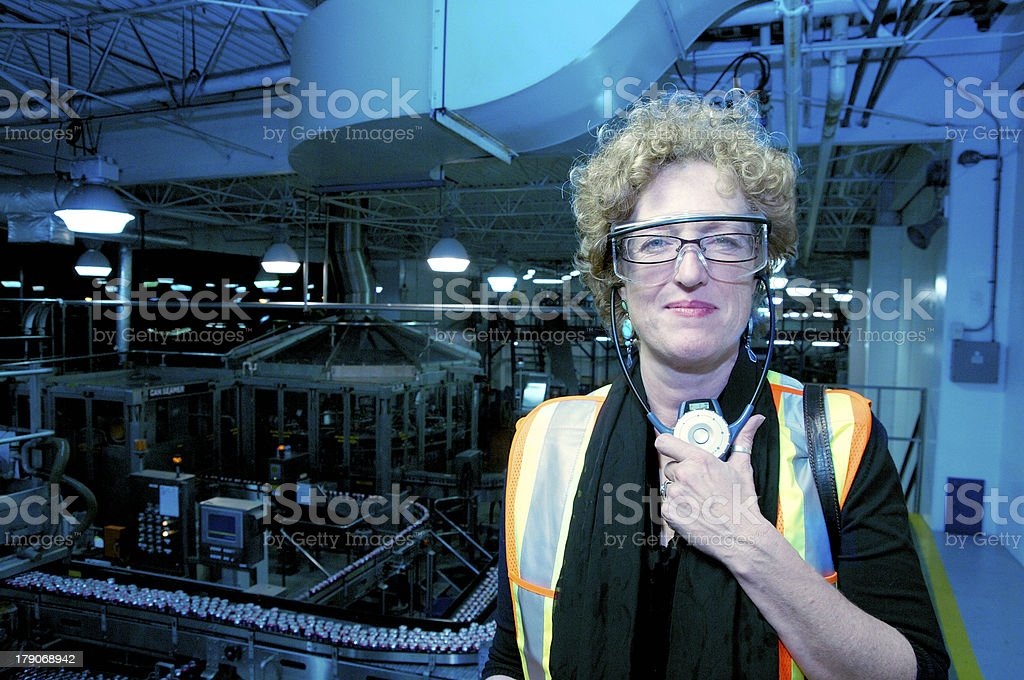 Female manager on duty royalty-free stock photo