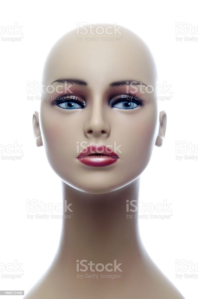 Female Mannequin Head stock photo