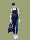 Female mannequin in sportswear.