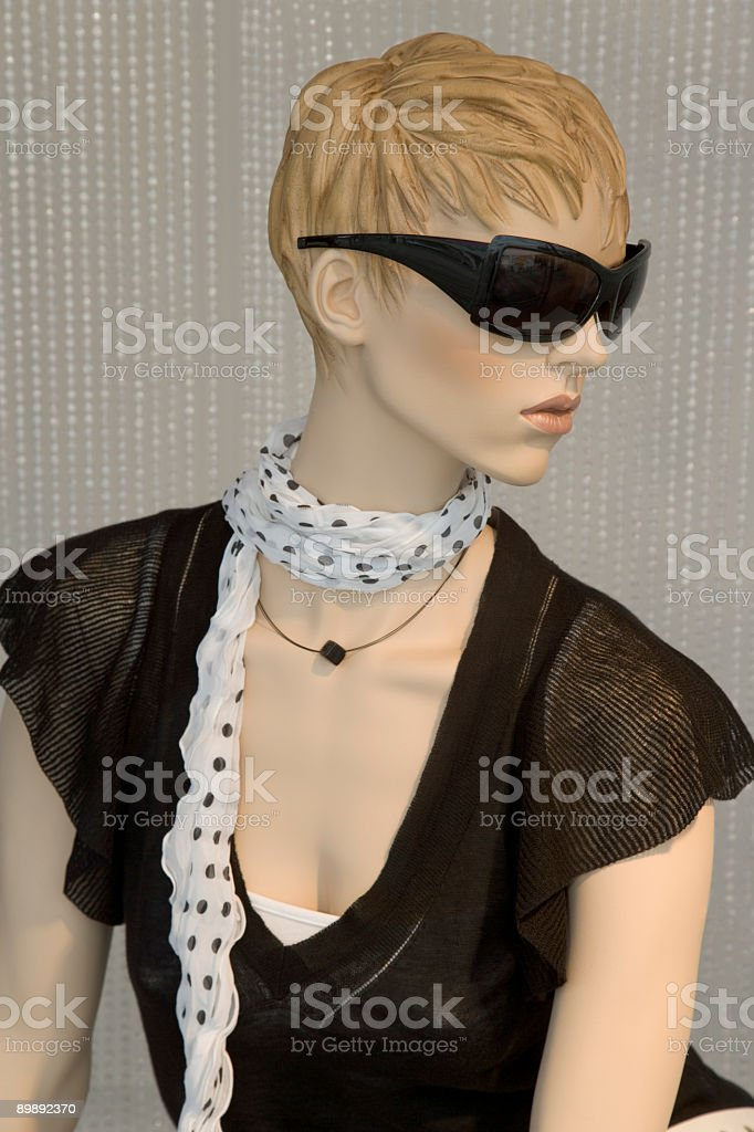 Female mannequin in trendy clothes (XXL) royalty-free stock photo