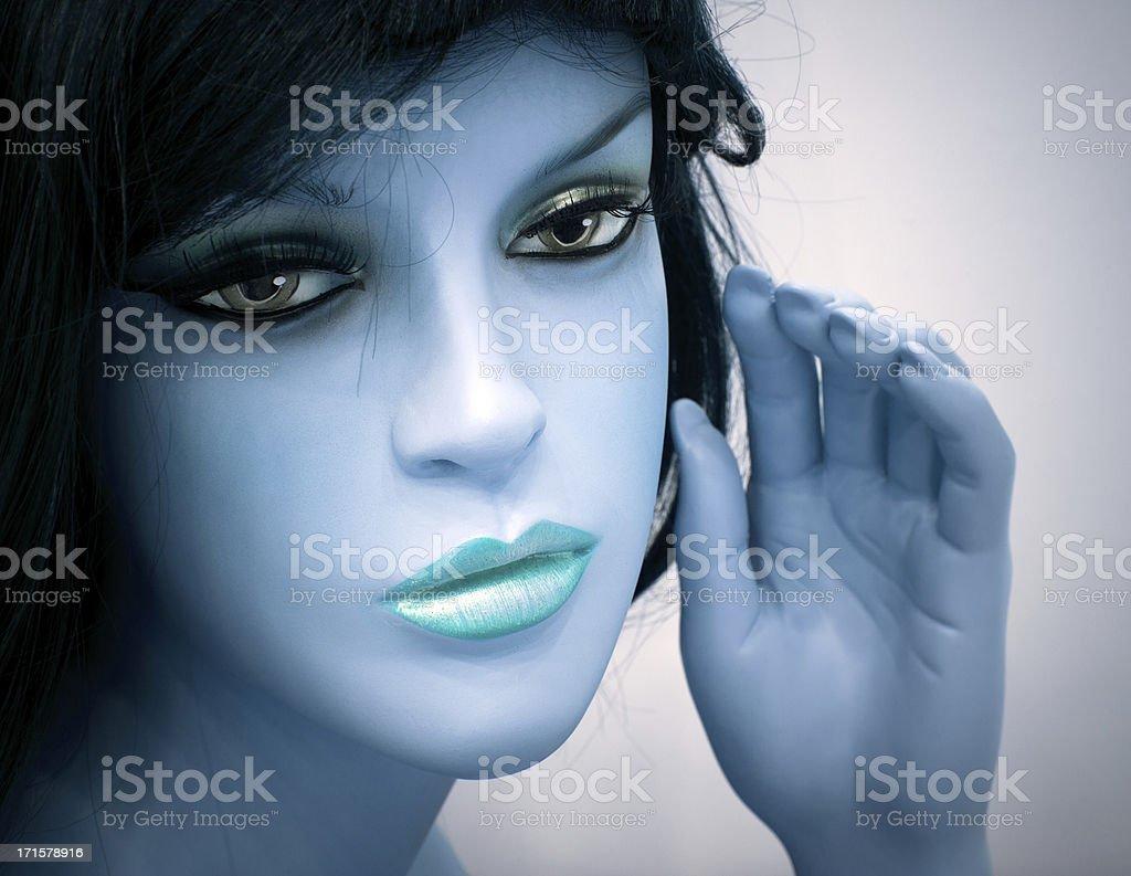 Female Mannequin Portrait royalty-free stock photo