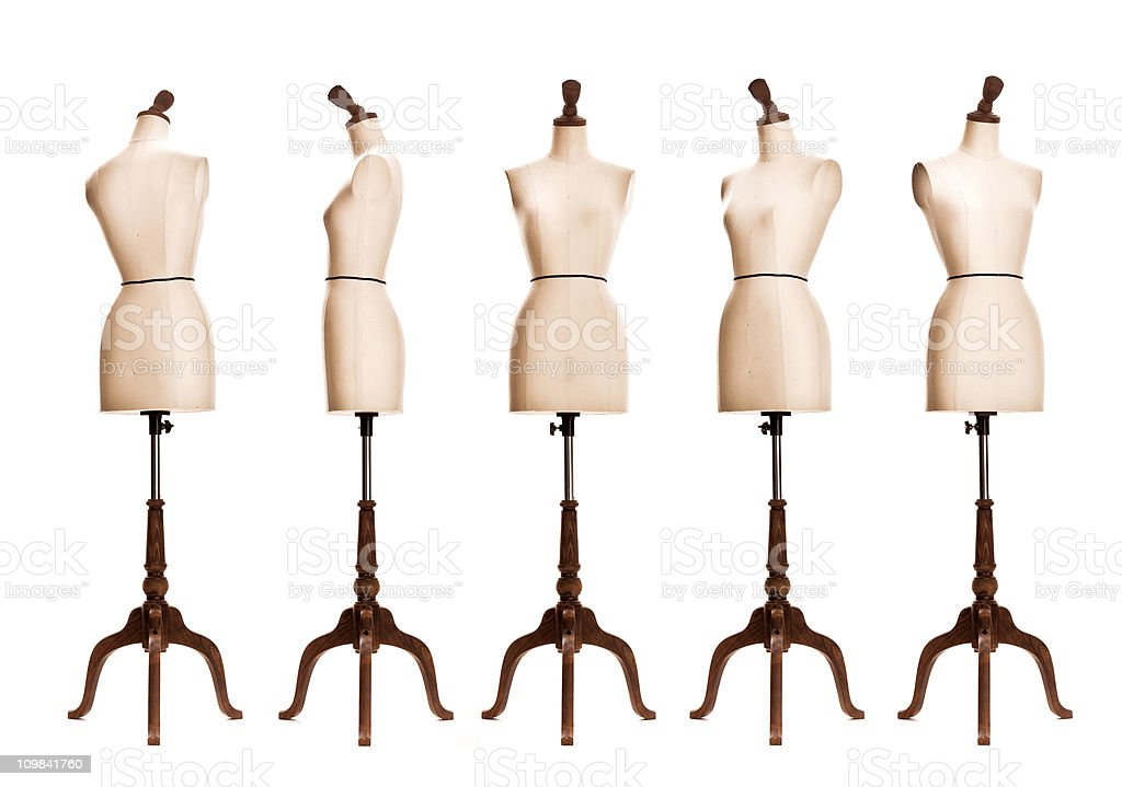 female mannequin torso stock photo