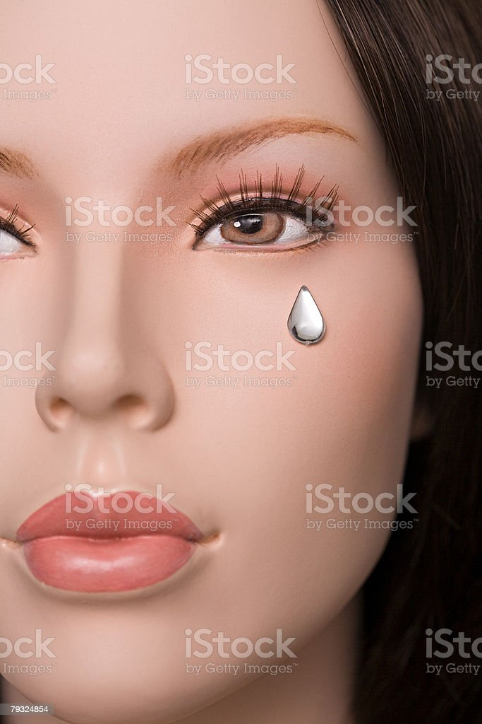 Female mannequins face stock photo