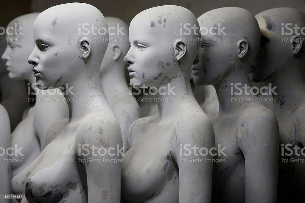 Female mannequins with discoloration royalty-free stock photo