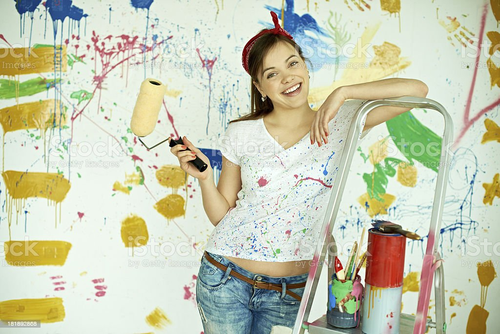 Female manual worker royalty-free stock photo