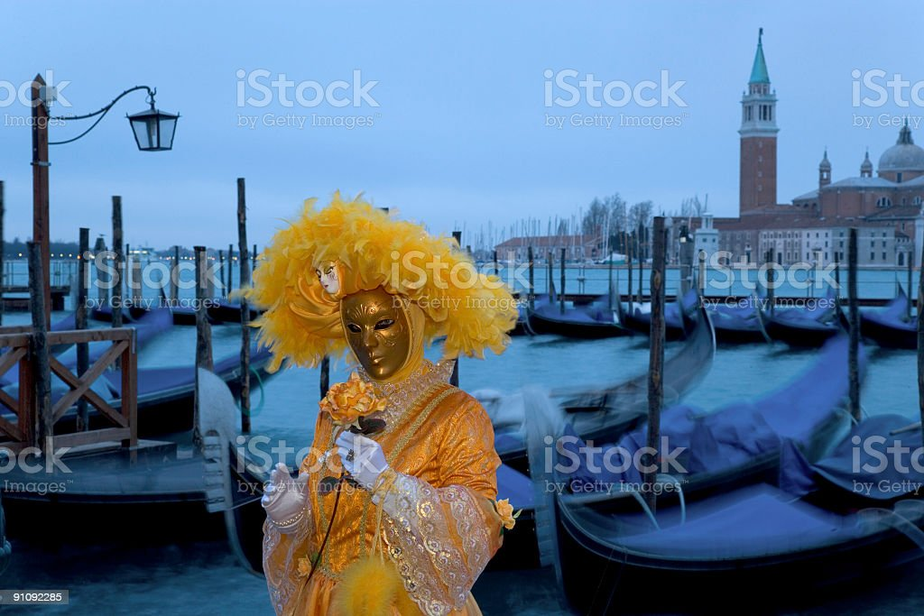 Female mask at carnival in Venice royalty-free stock photo