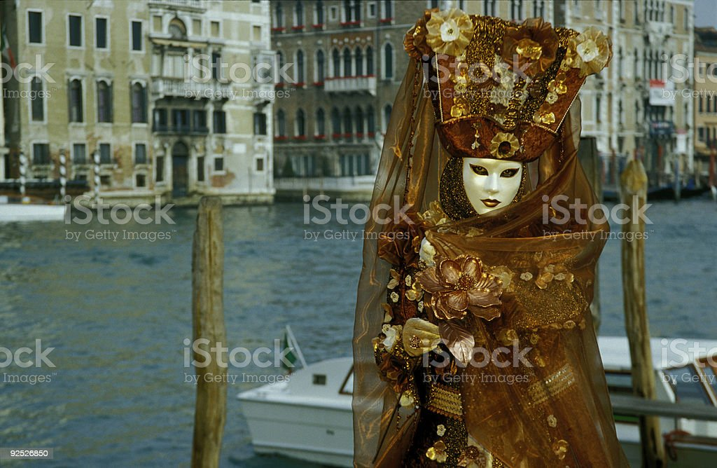 Female Mask at Grand Canal in Venice (XXL) royalty-free stock photo