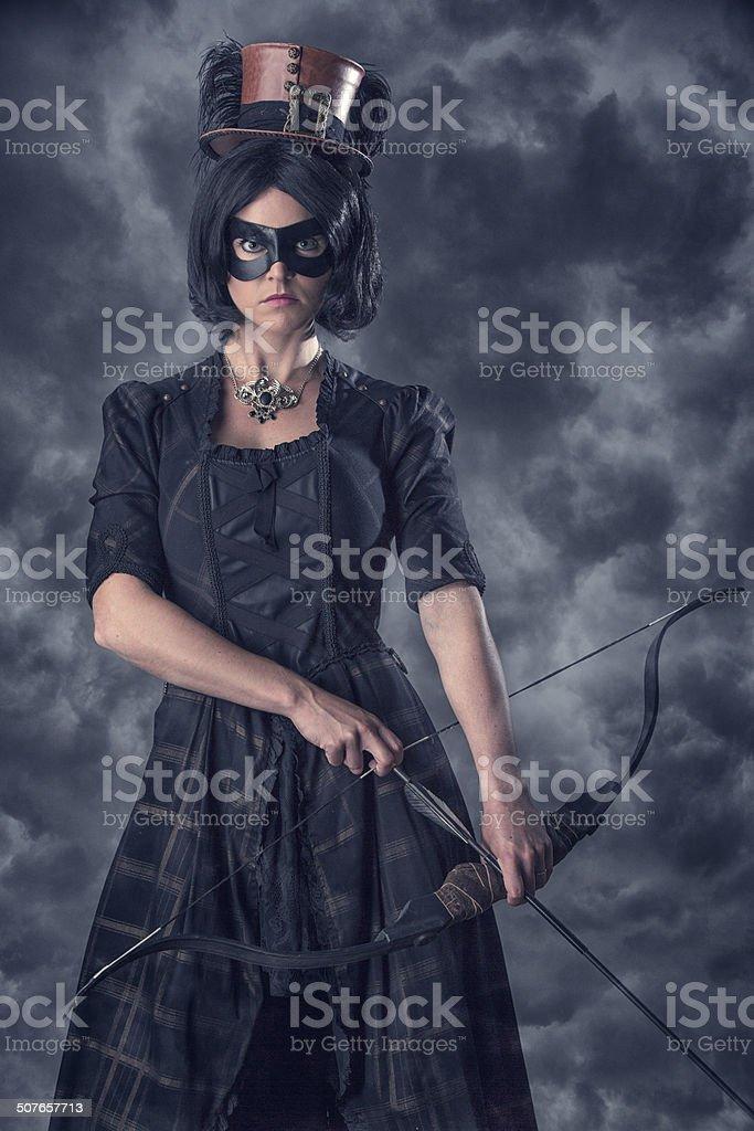 Female Masked Killer stock photo