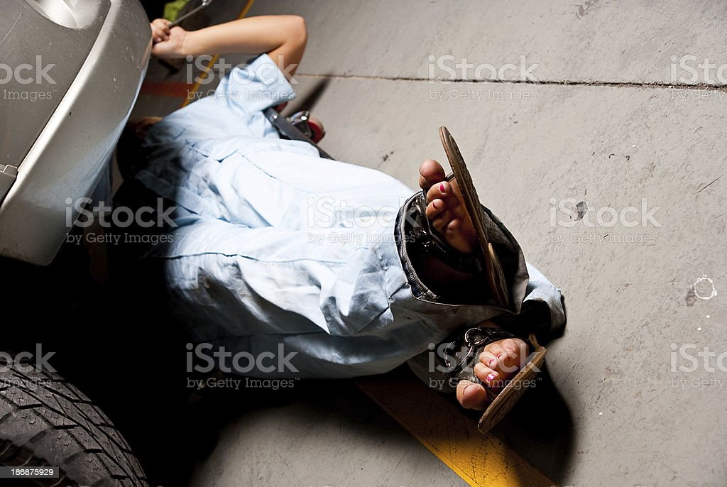Female Mechanic stock photo