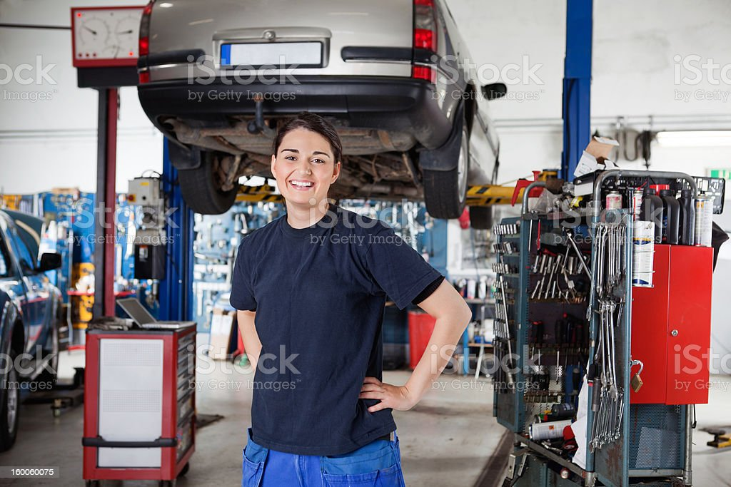 Female Mechanic Portrait royalty-free stock photo