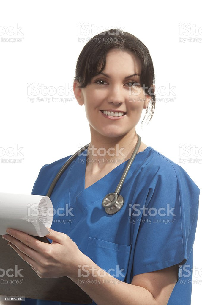 Female medical personnel royalty-free stock photo