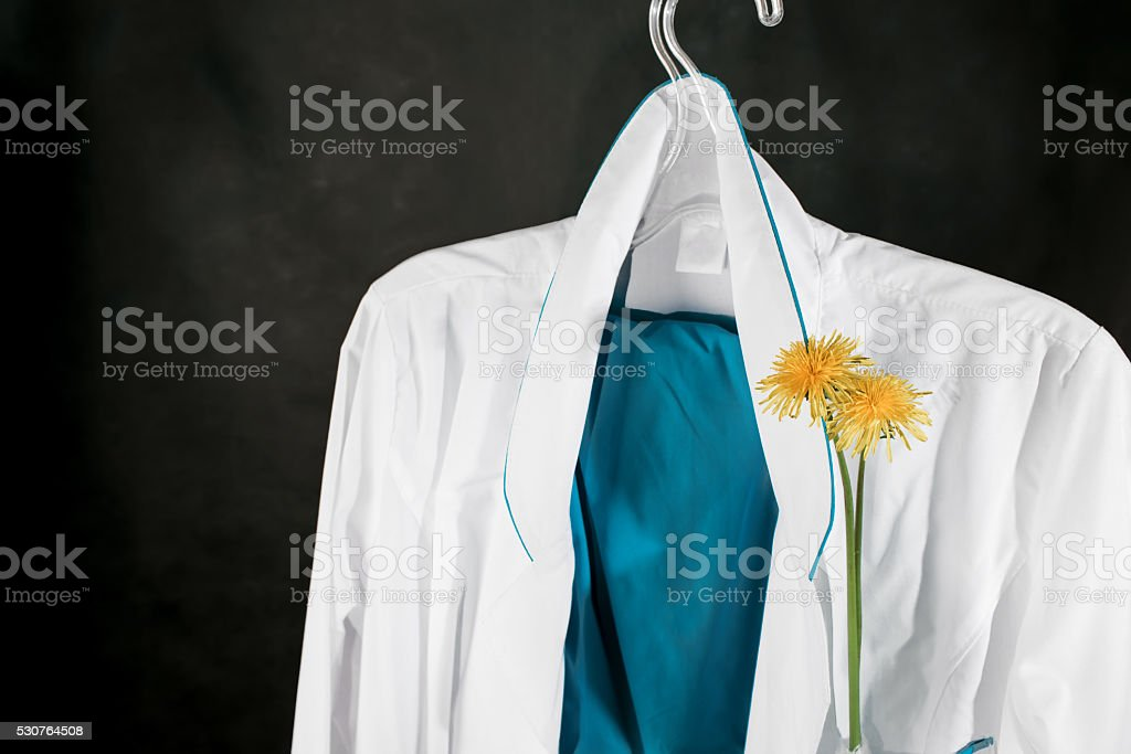 Female medical wear stock photo