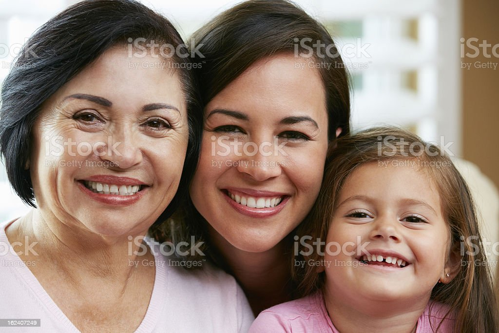 Female Members Of Multi Generation Family At Home royalty-free stock photo