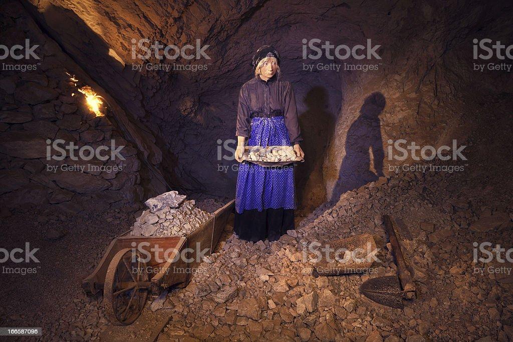 Female Mine Worker royalty-free stock photo
