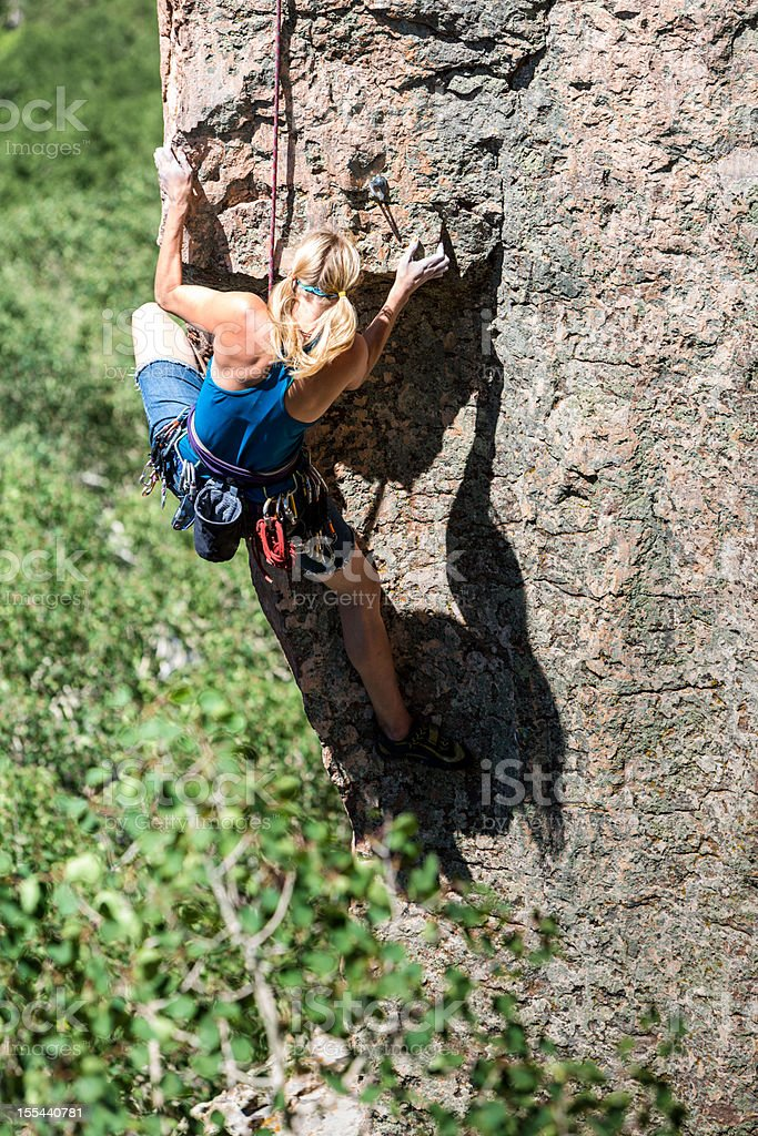 Female Mountain Climber royalty-free stock photo