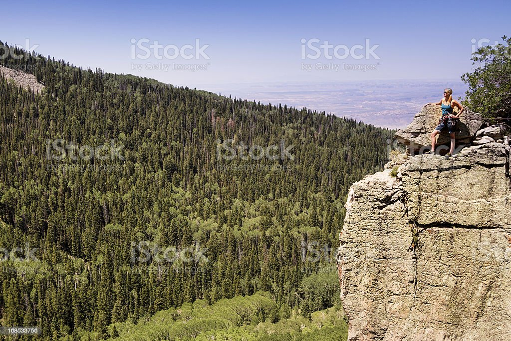 Female Mountain Climber stock photo