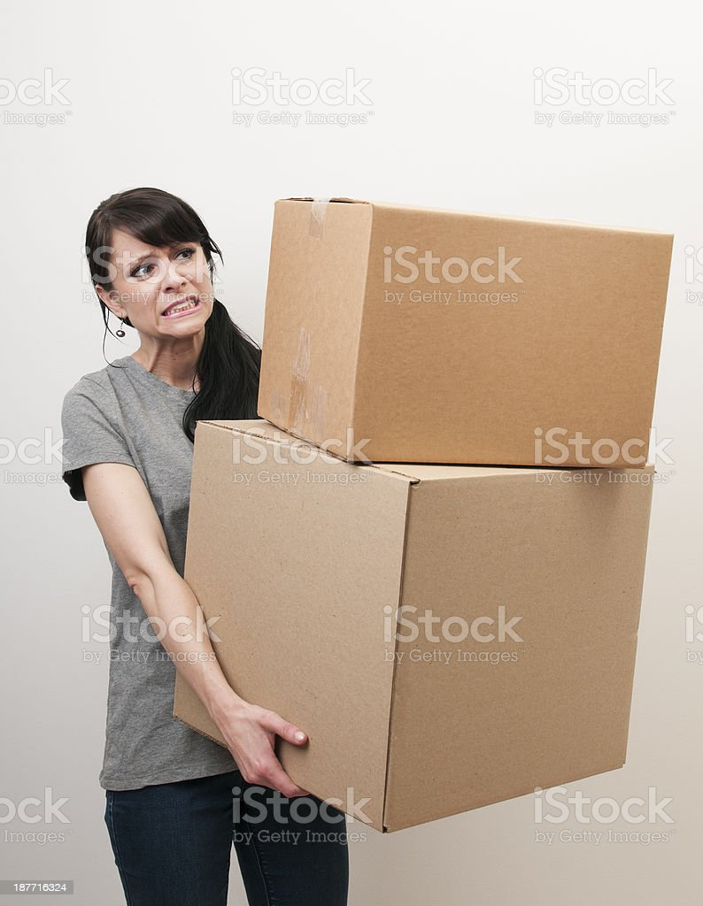 Female Mover royalty-free stock photo