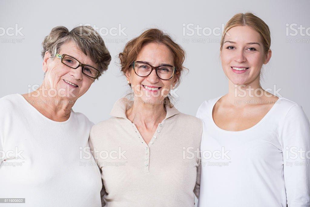 Female multi generation portrait stock photo