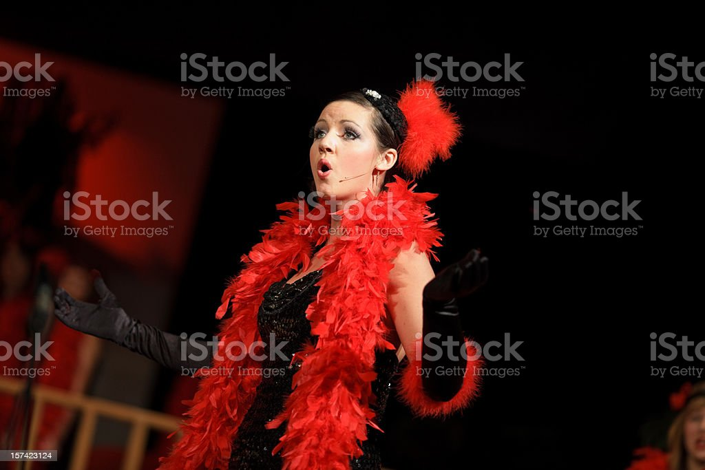 Female Musical theatre royalty-free stock photo