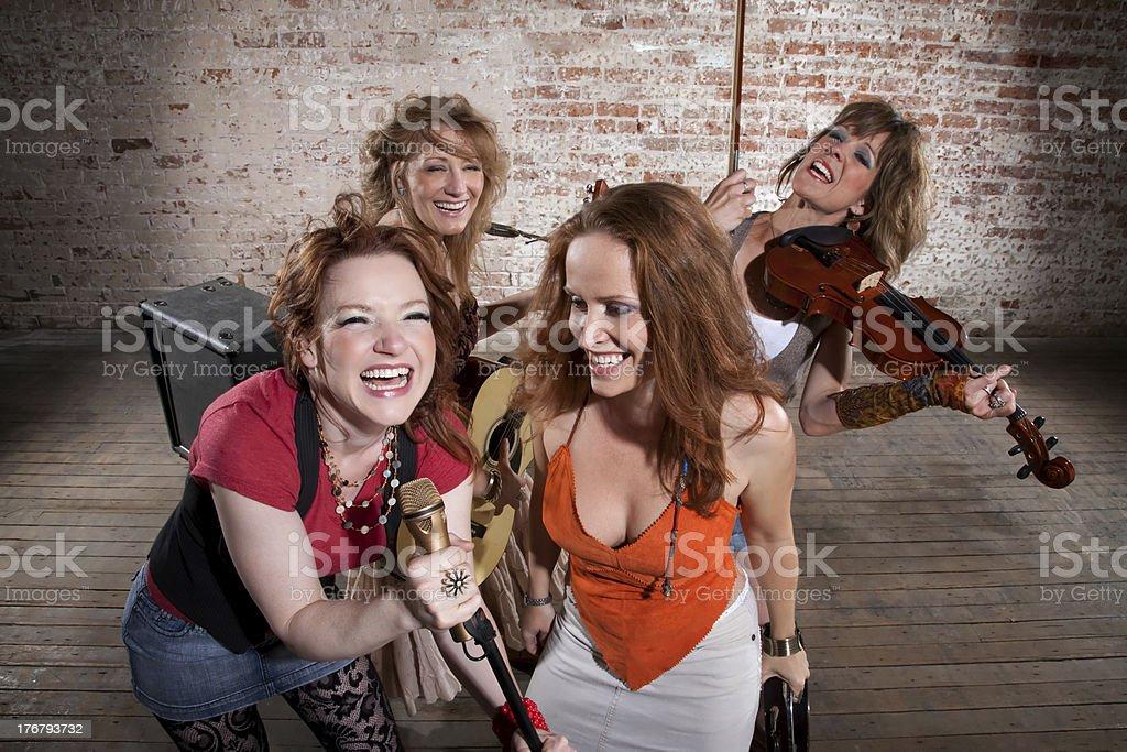 Female musicians stock photo