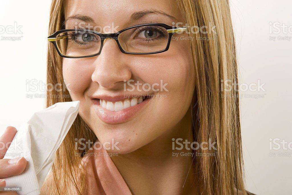 Female / Napkin royalty-free stock photo