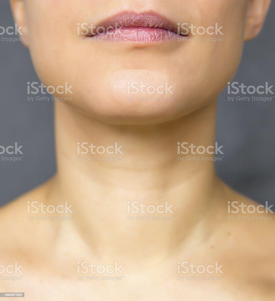 female neck stock photo