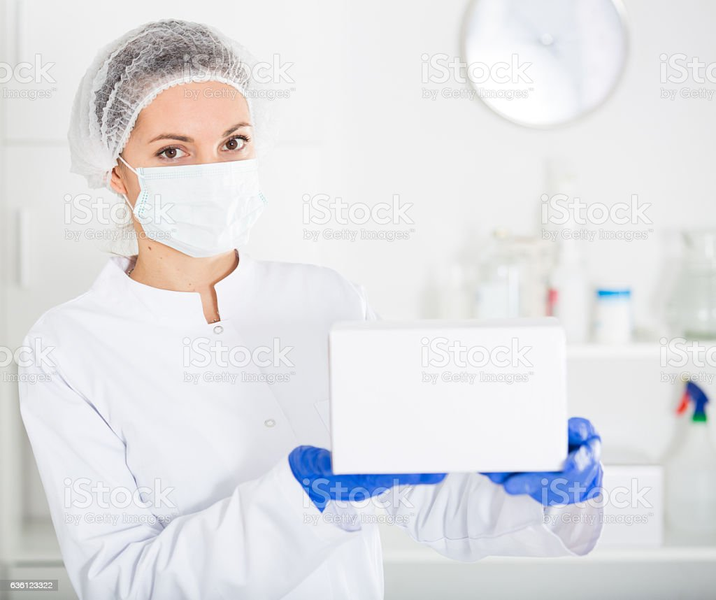 Female nurse at work stock photo