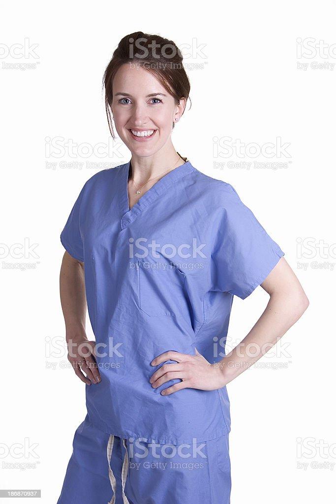 Female Nurse in Scrubs royalty-free stock photo