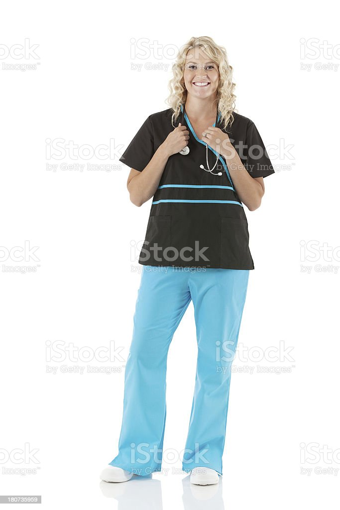 Female nurse smiling royalty-free stock photo
