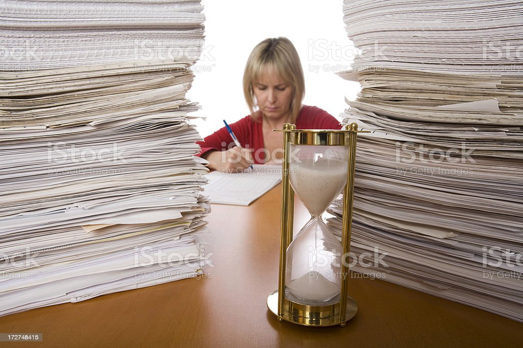 Female office employee royalty-free stock photo