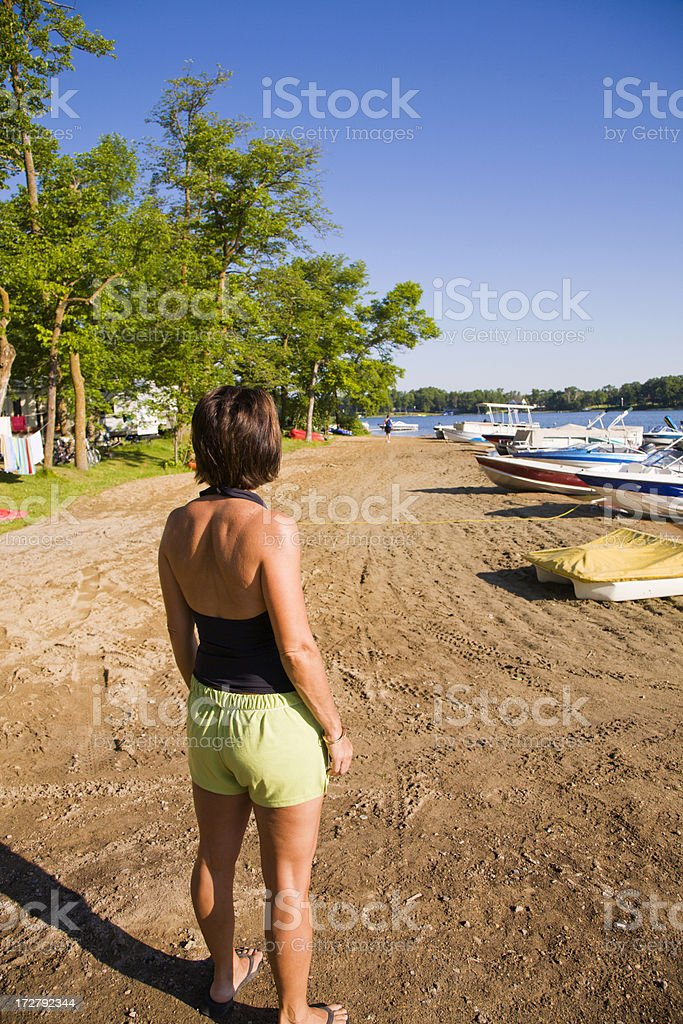 Female on the beach royalty-free stock photo