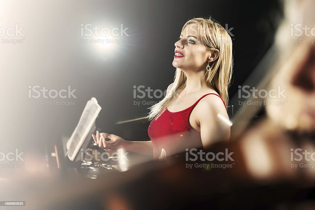 Female opera singer. royalty-free stock photo