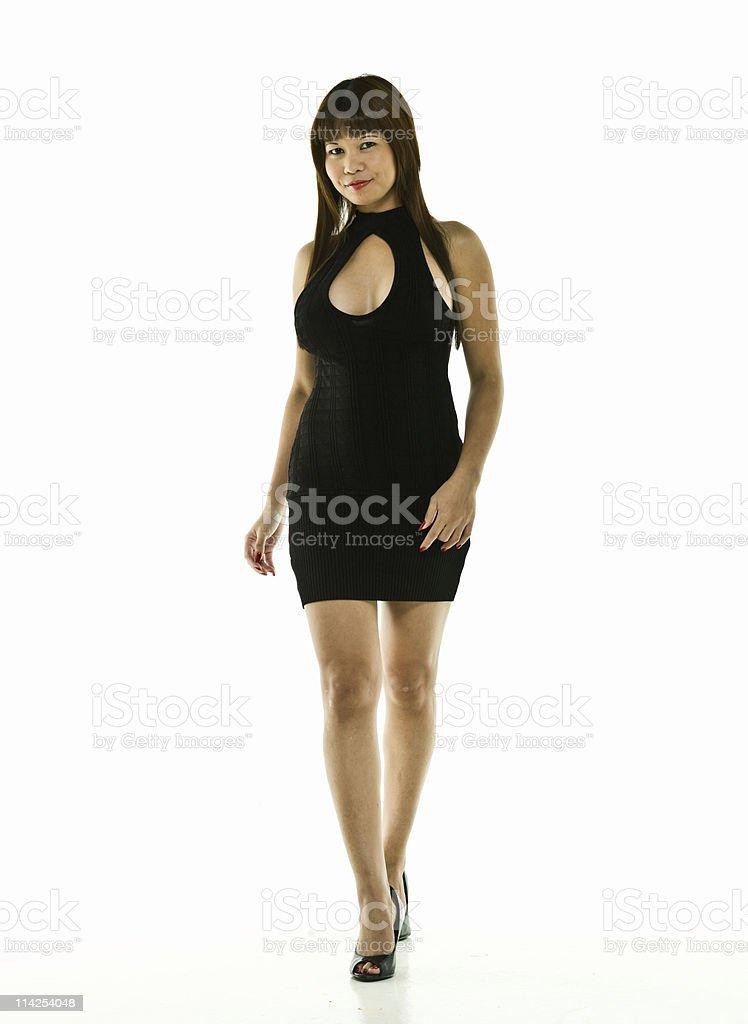Female oriental fashion model royalty-free stock photo