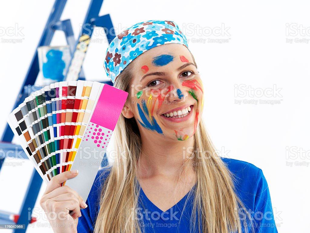 female painters royalty-free stock photo