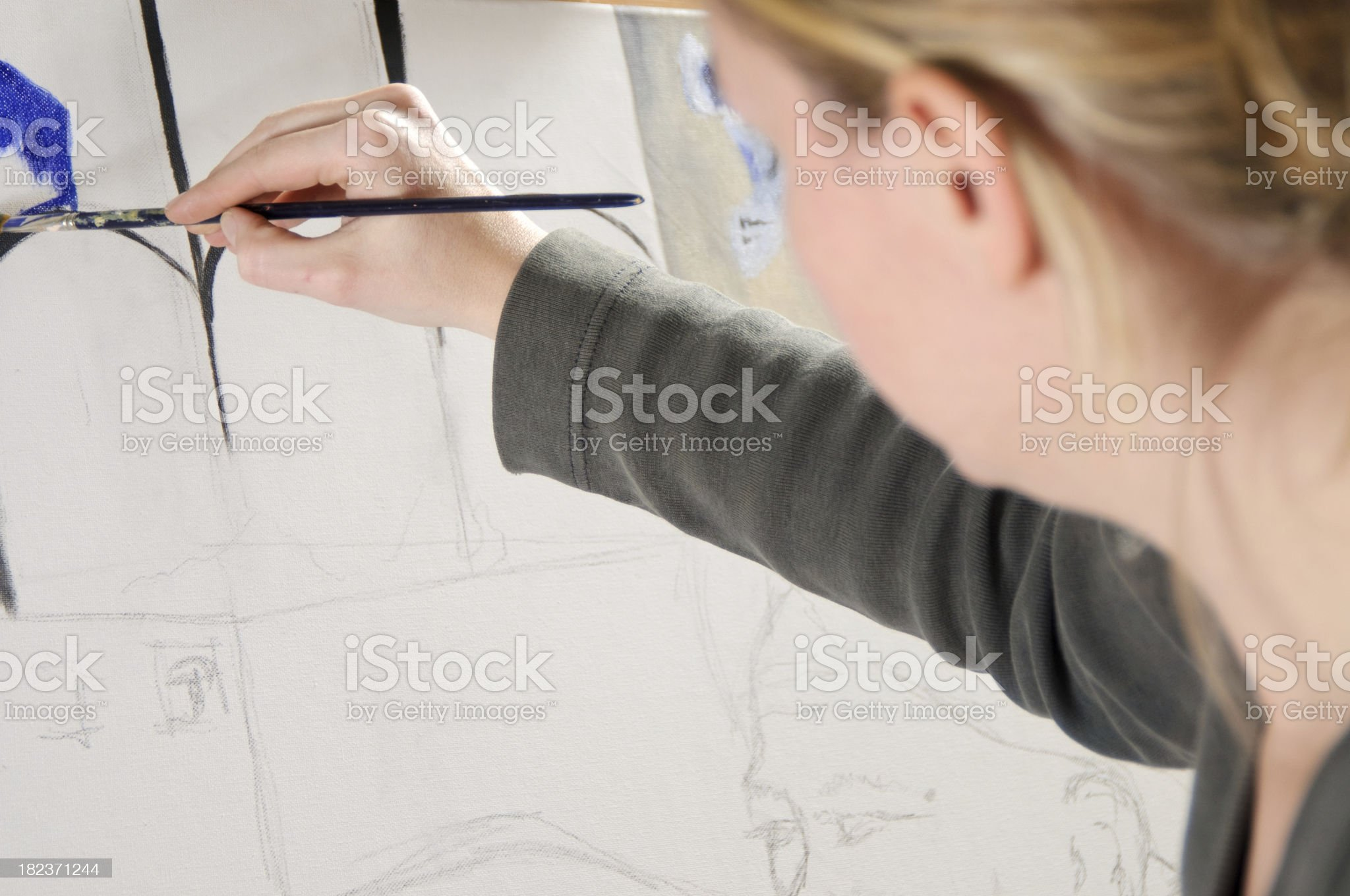 Female painting royalty-free stock photo