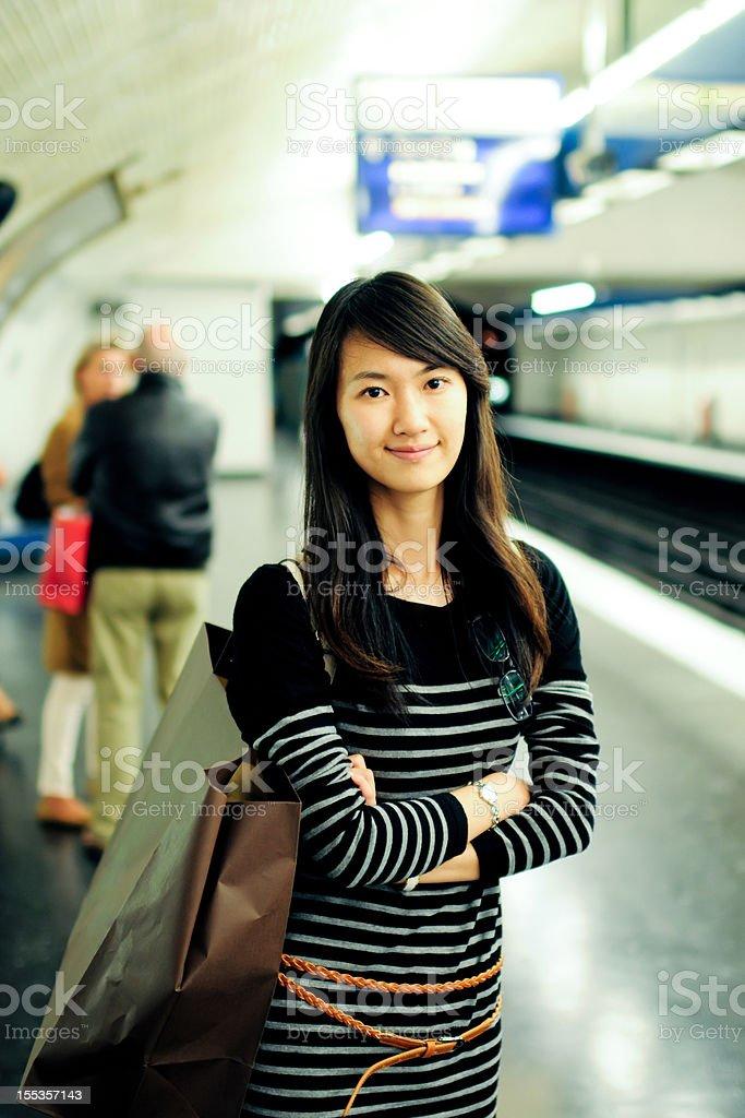 Female Passenger - XLarge royalty-free stock photo