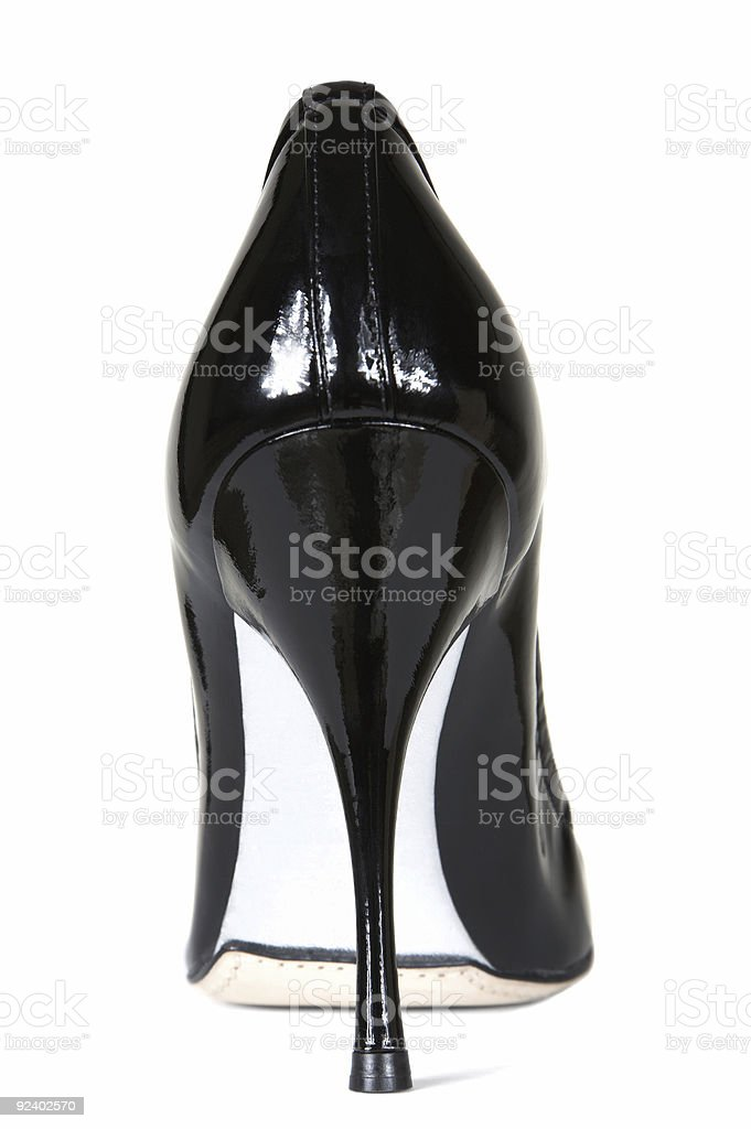 female patent leather shoes royalty-free stock photo