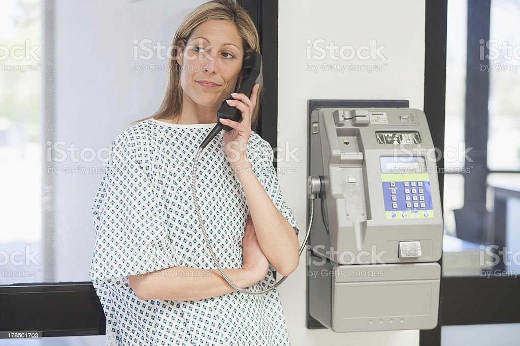 Female patient hold on telephone royalty-free stock photo