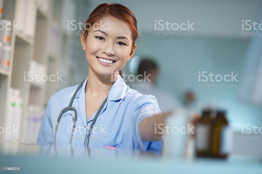 female pharmacist nurse royalty-free stock photo