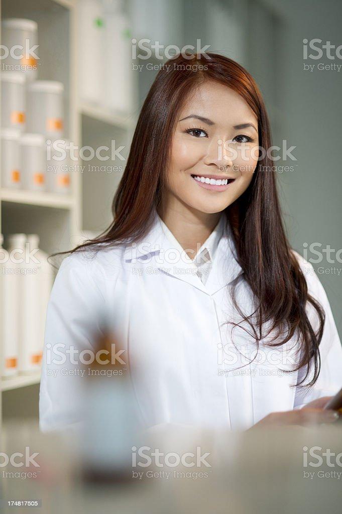 female pharmacist royalty-free stock photo