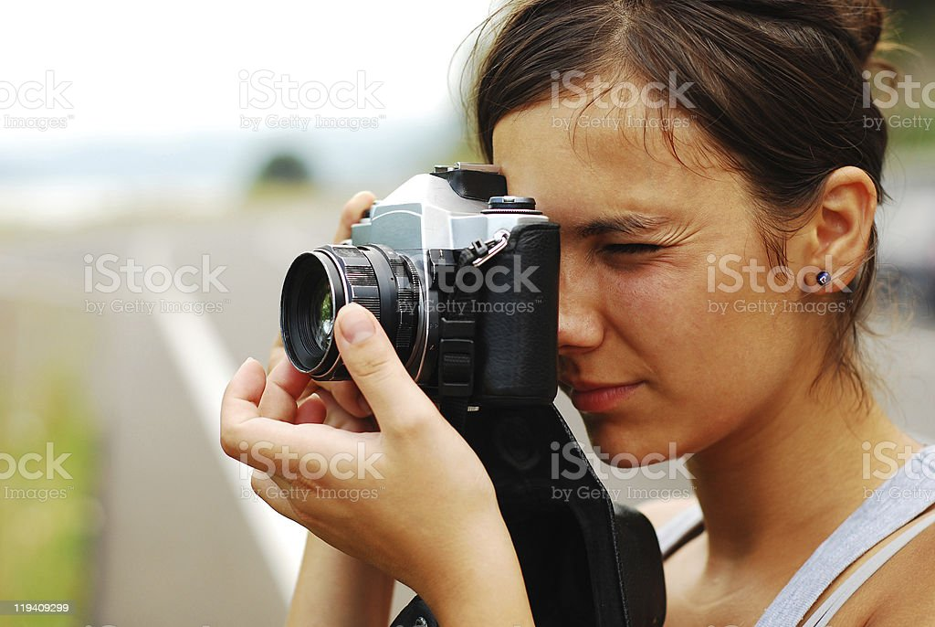 female photographer royalty-free stock photo