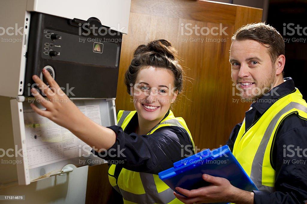female plumber royalty-free stock photo
