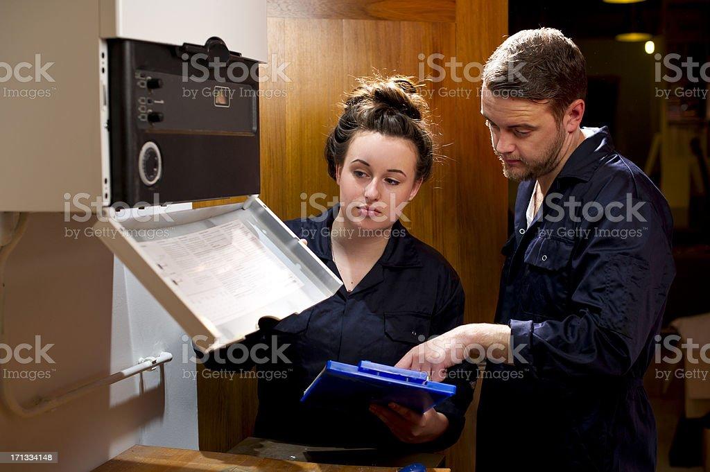 female plumber stock photo