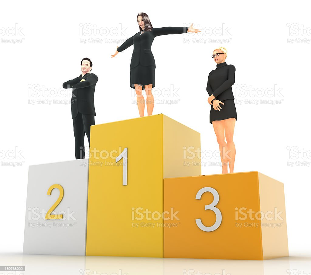 Female Podium royalty-free stock photo