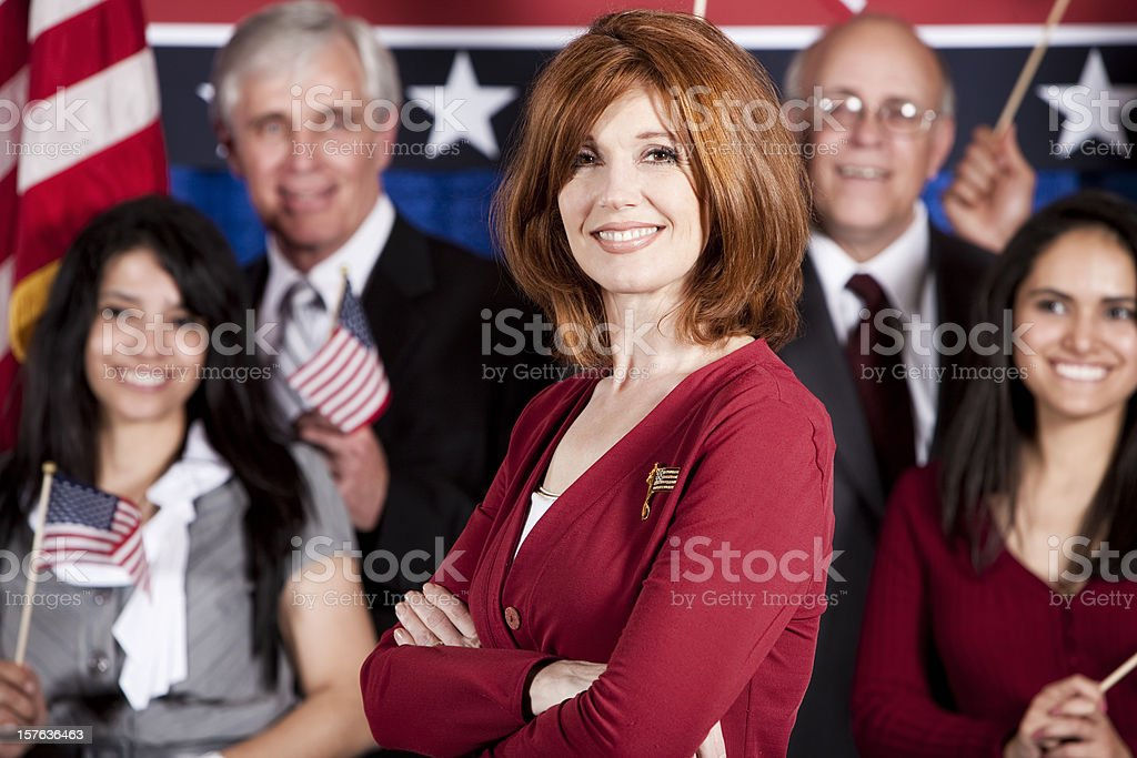 Female Politician stock photo